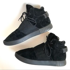 Adidas Tubular Black Suede Sneakers